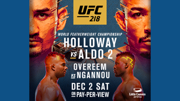 Watch UFC #218 at Warrior Zone - No Cover Charge