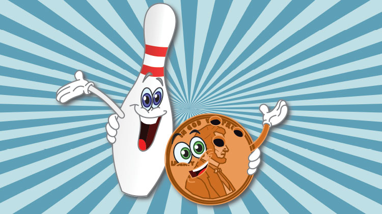 CANCELLED UNTIL FURTHER NOTICE - Penny-a-Pin Family Day at Hooper Bowling