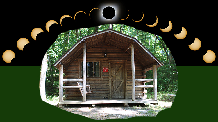 Watch the Eclipse - Book Your Cabin Now!
