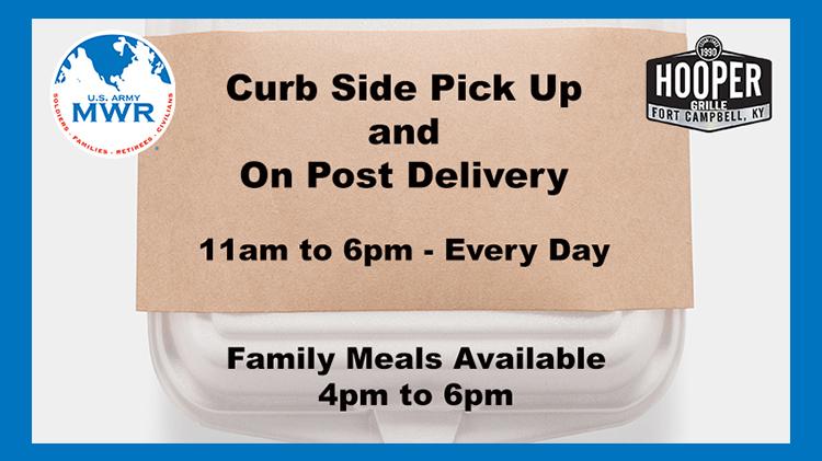 Hooper Grille Curb Side Pick Up & Delivery Menus