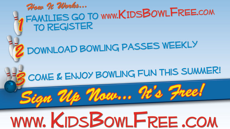 Kids Bowl Free at Hooper Bowling Center - No Fee
