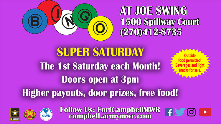 Super Saturday Bingo Program - Fee