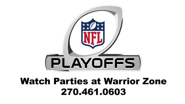 NFL Playoff Games Watch Parties at Warrior Zone