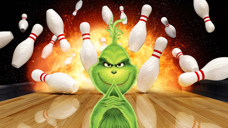 Bowling with The Grinch