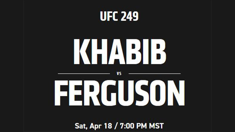 CANCELLED - Watch UFC #249 with BOSS