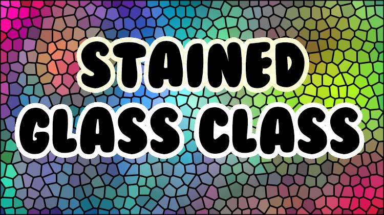 Arts & Crafts Stained Glass Class - Fee