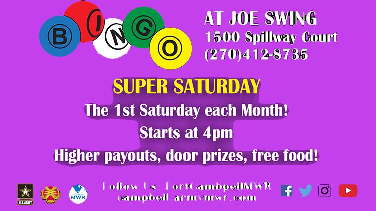 Super Saturday Bingo Program
