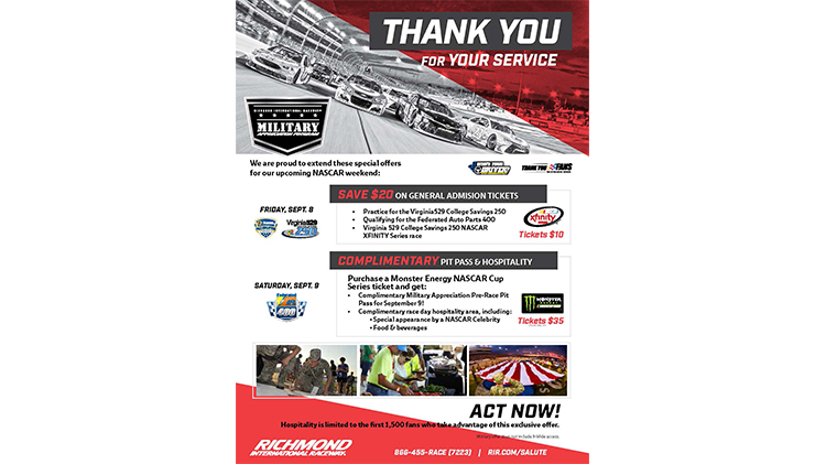 Richmond International Raceway September Race Tickets Available at Leisure Travel Services - Fee