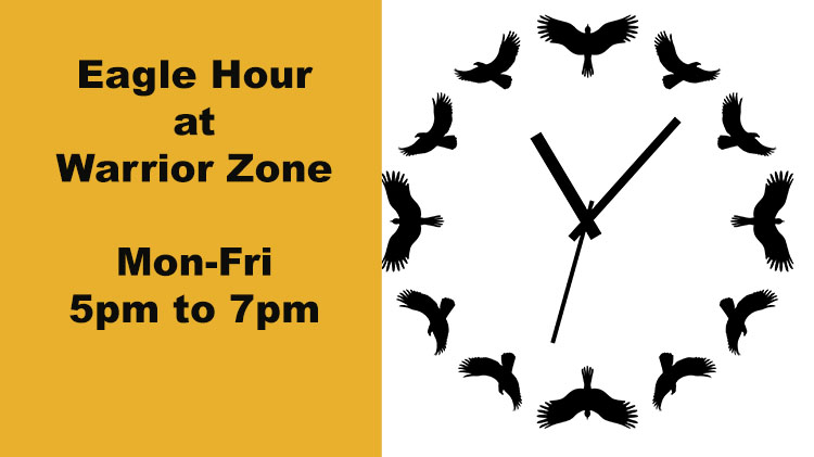 CANCELLED UNTIL FURTHER NOTICE - Eagle Hour at Warrior Zone